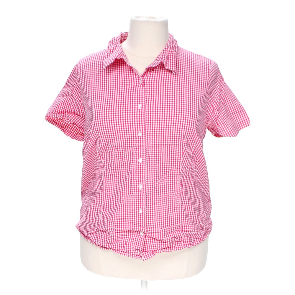 Pink bobbie brooks button up shirt in size 3x at up to 95 for 3x shirts on sale