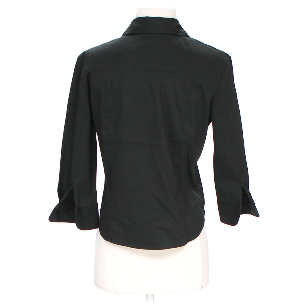 Black express button up shirt in size 4 at up to 95 off for Polyester button up shirt