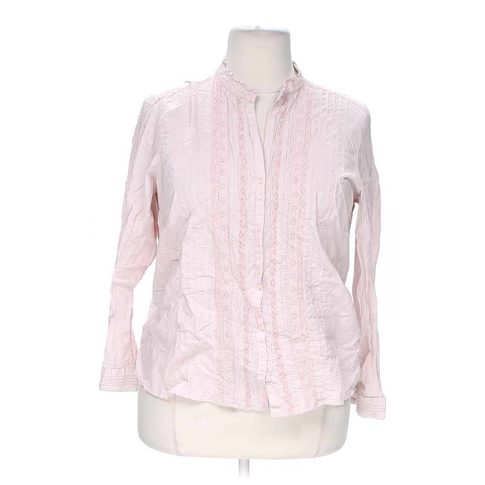 Faded glory button up shirt in size 18 at up to 95 off for Cotton button up shirt
