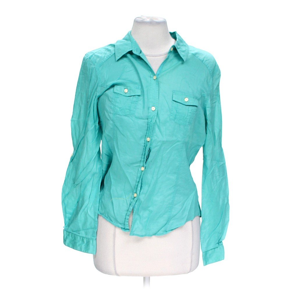 Light Blue Old Navy Button Up Shirt In Size L At Up To 95