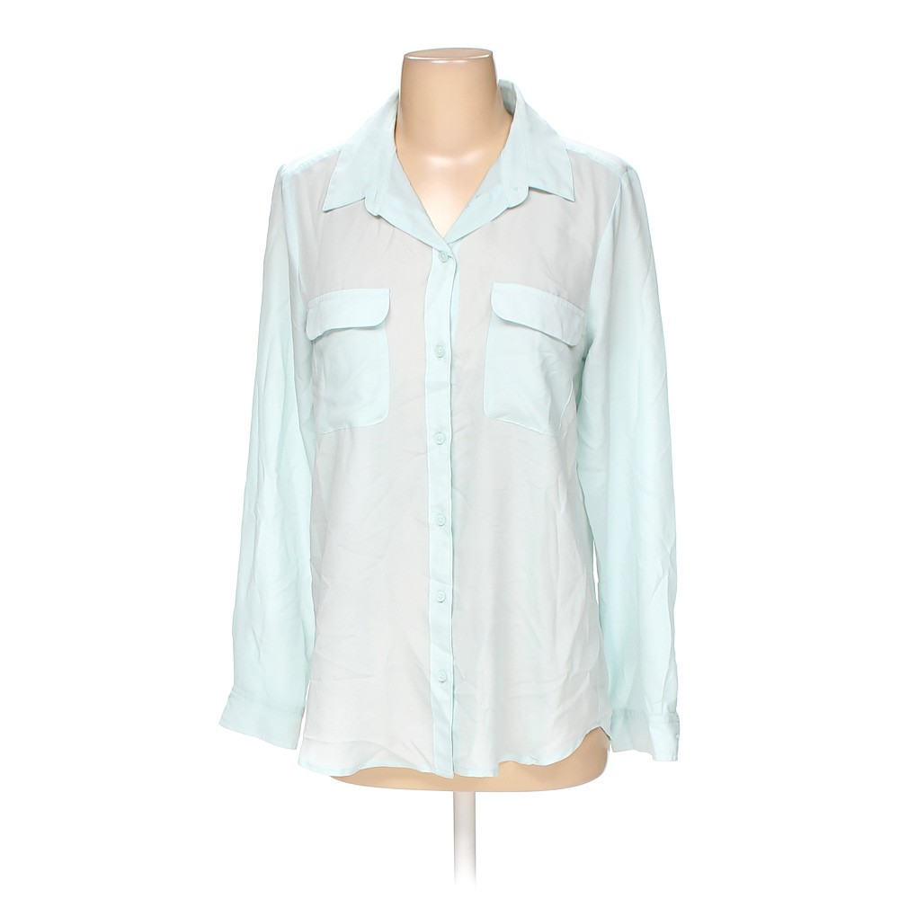 Light Blue Old Navy Button Up Shirt In Size S At Up To 95