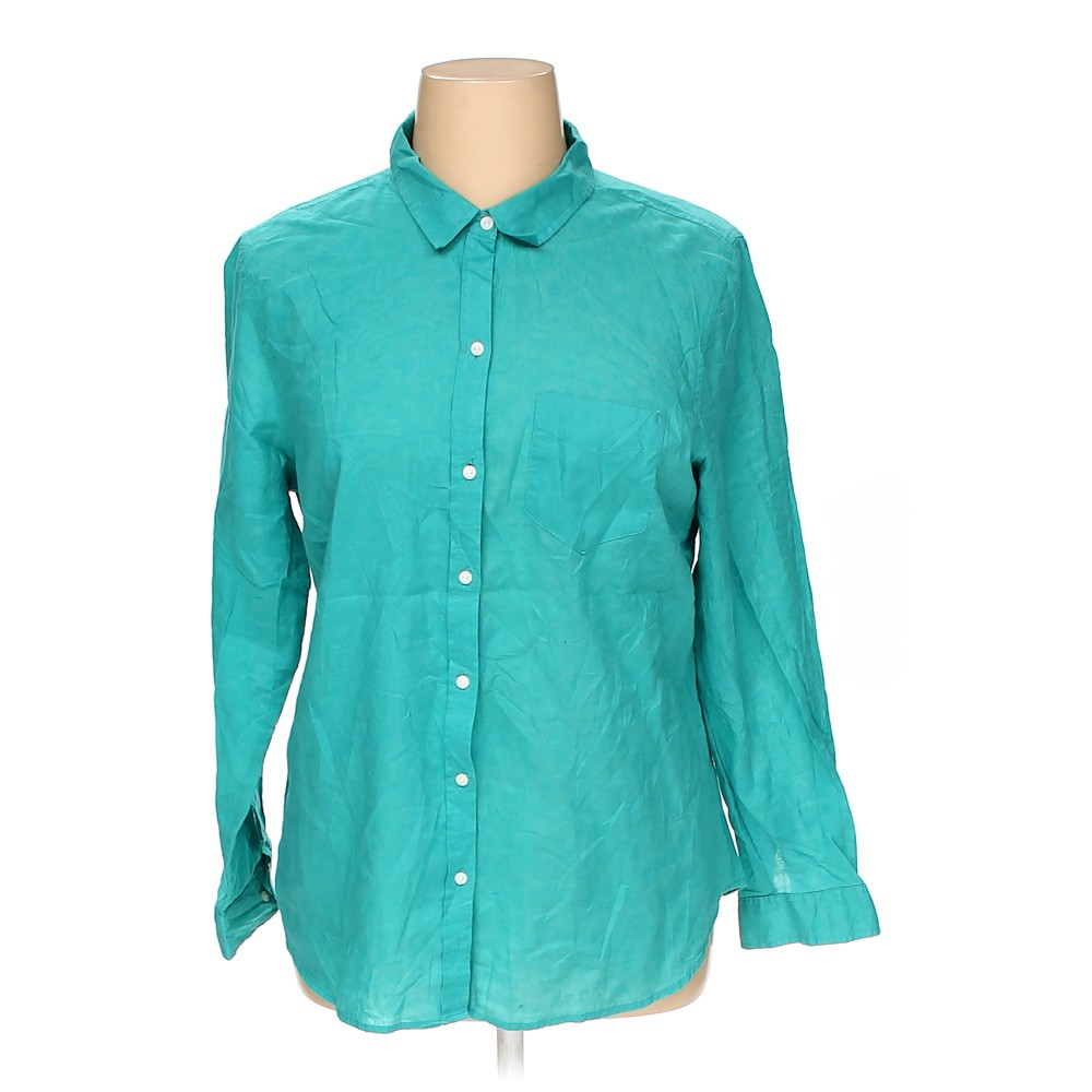 Turquoise Old Navy Button Up Shirt In Size Xl At Up To 95