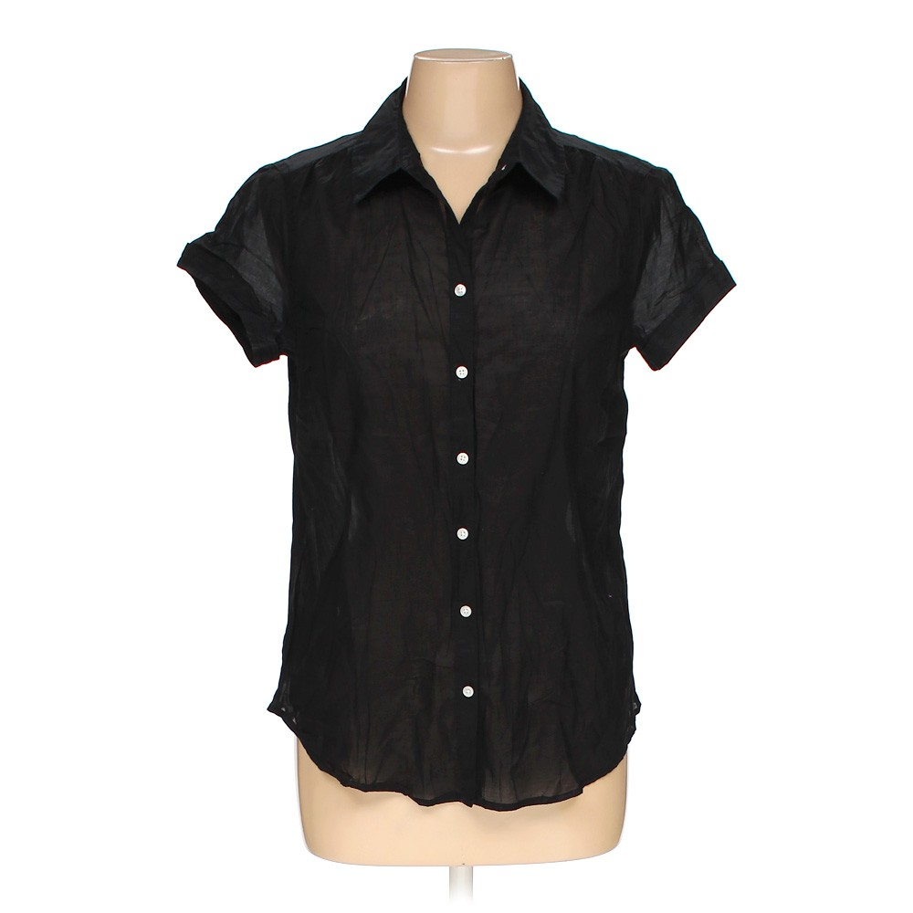 Black Old Navy Button Up Shirt In Size M At Up To 95 Off