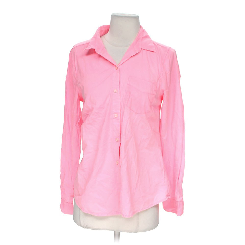 Pink Old Navy Button Up Shirt In Size S At Up To 95 Off