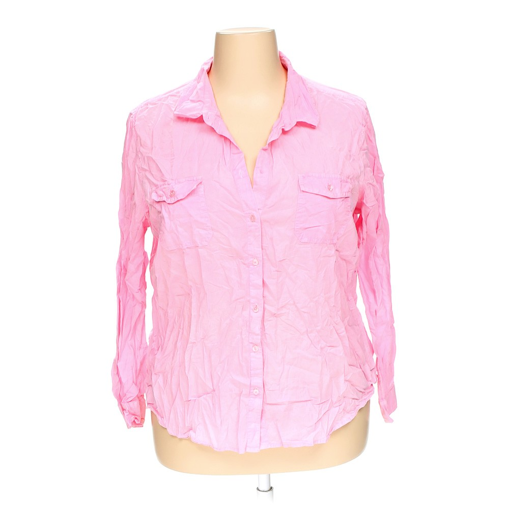 Pink Old Navy Button Up Shirt In Size Xxl At Up To 95 Off