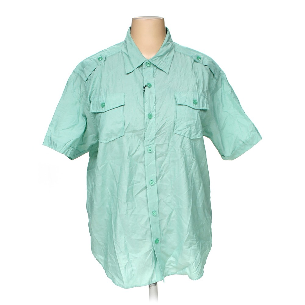 Green seventy 7 button up shirt in size 3x at up to 95 for 3x shirts on sale