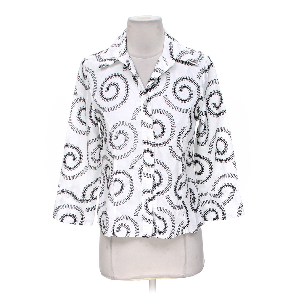 White tweeds button up shirt in size s at up to 95 off for How to hand wash white shirt