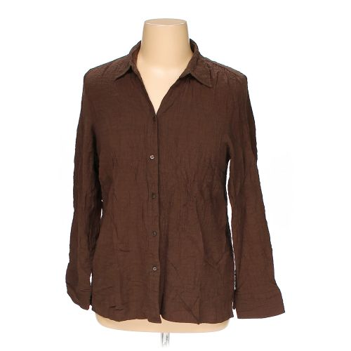 Brown white stag button up shirt in size 16 at up to 95 for White shirt brown buttons