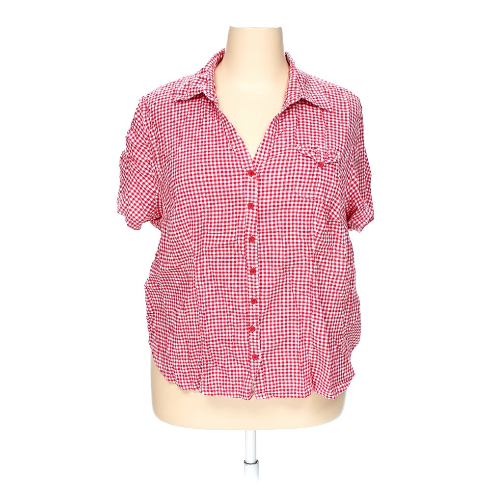 Red white stag button up shirt in size 3x at up to 95 off for 3x shirts on sale