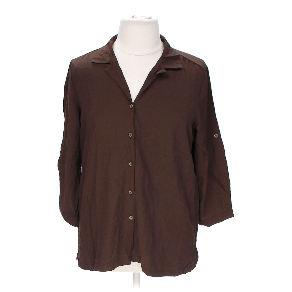 Brown white stag button up shirt in size xxl at up to 95 for White shirt brown buttons