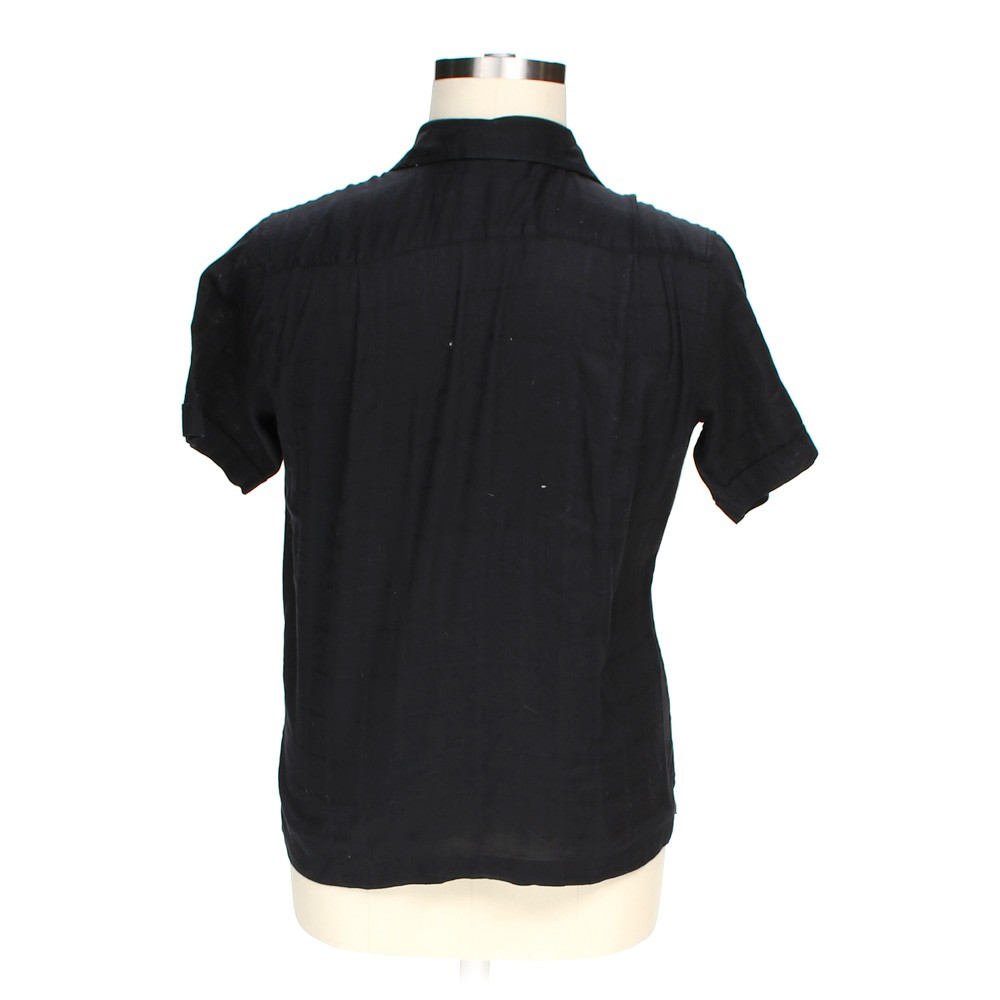 Black Polo By Ralph Lauren Button Up Short Sleeve Shirt In