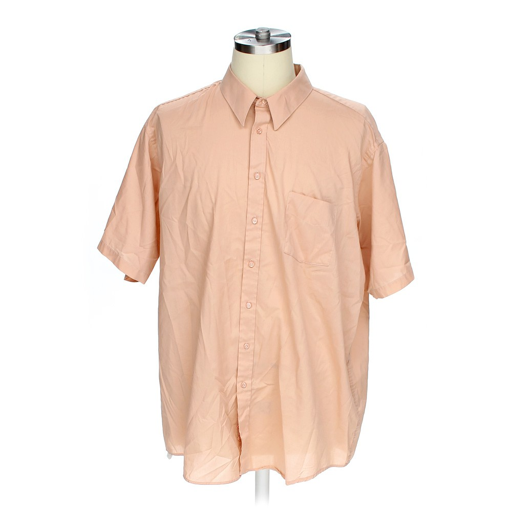 Beige stafford button up short sleeve shirt in size 54 for Stafford t shirts big and tall