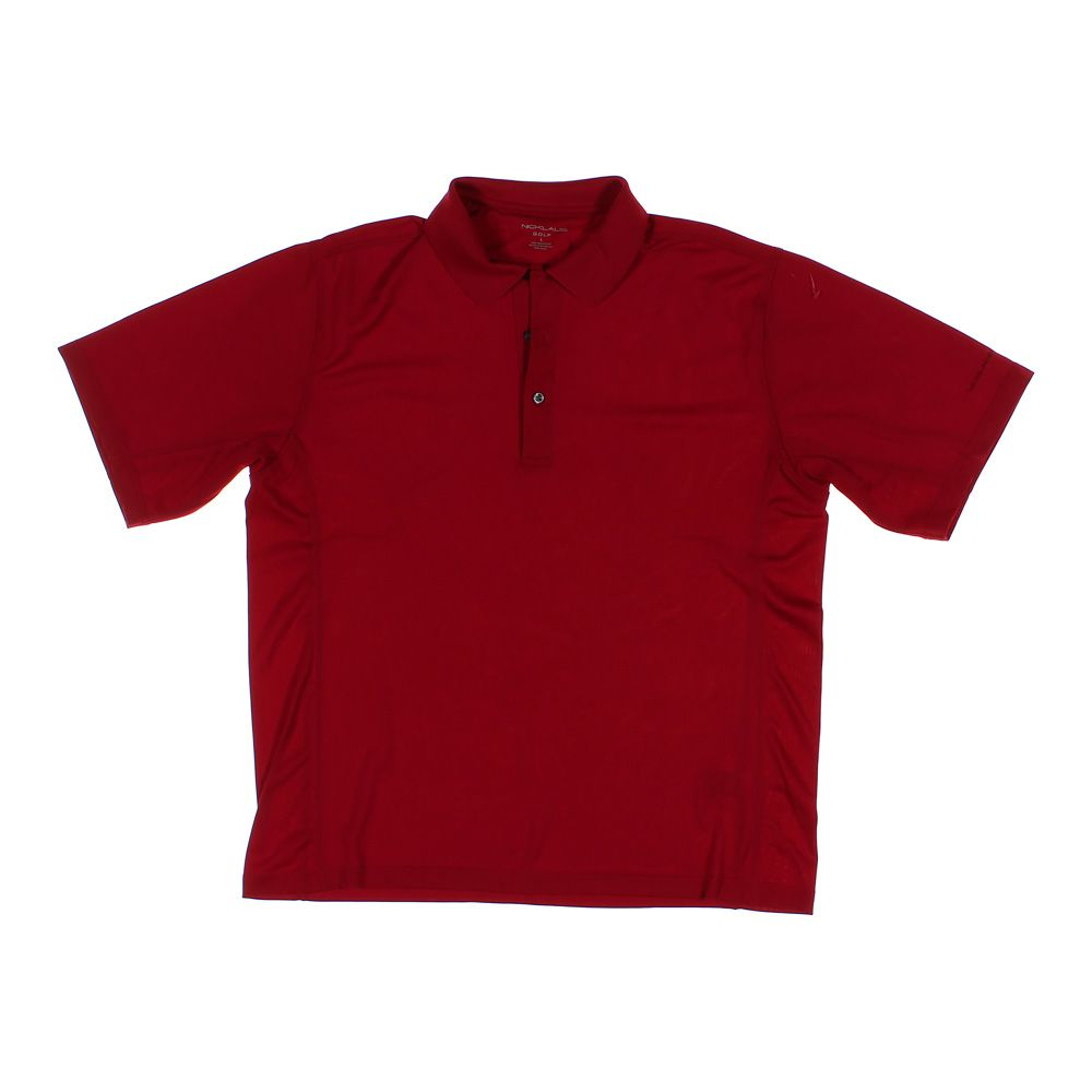 Nicklaus Mens Short Sleeve Polo Shirt Size L Maroon Polyester Ebay