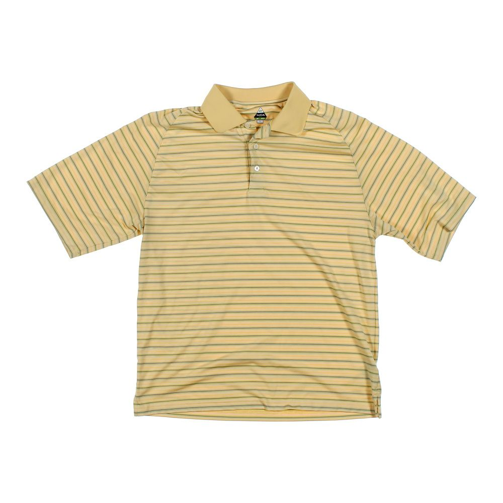 Bolle Mens Short Sleeve Polo Shirt Size M Yellow Polyester