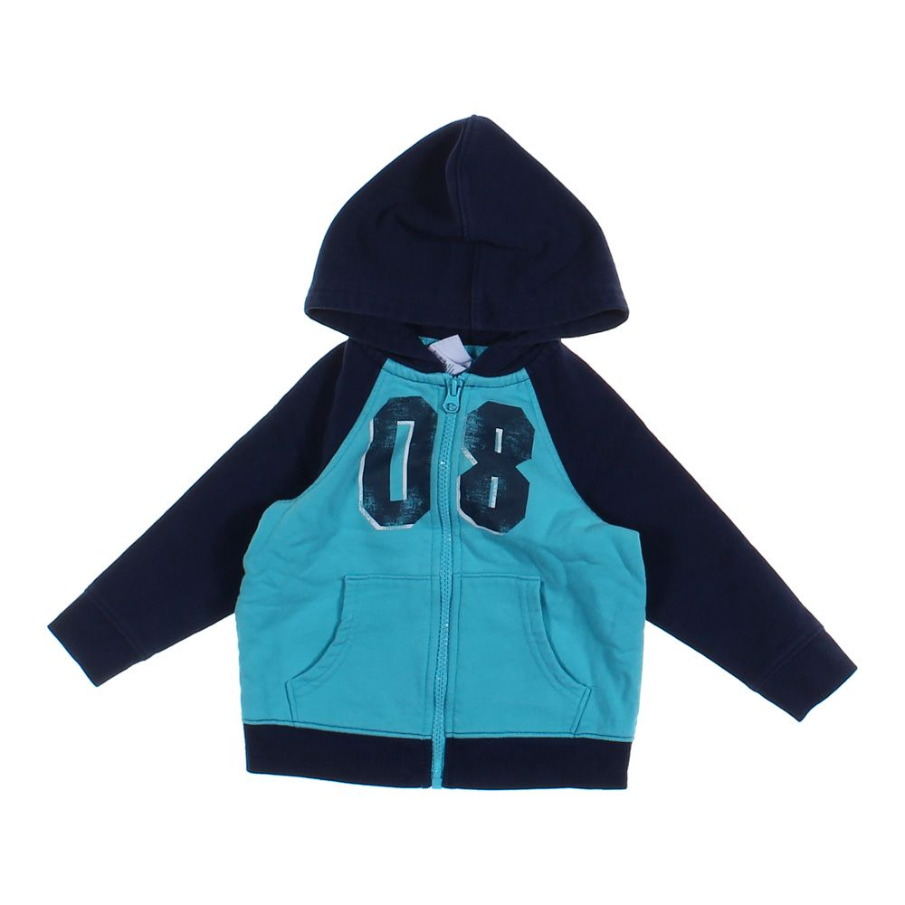 BOYS TEE SHIRT WITH HOODED JACKET SIZE 10//12 OR 18 NAVY BLUE
