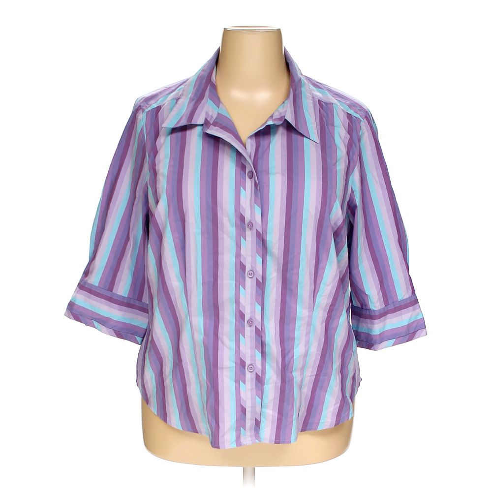 c083ad2b8a4 Image is loading Lane-Bryant-Women-039-s-Button-up-Shirt-