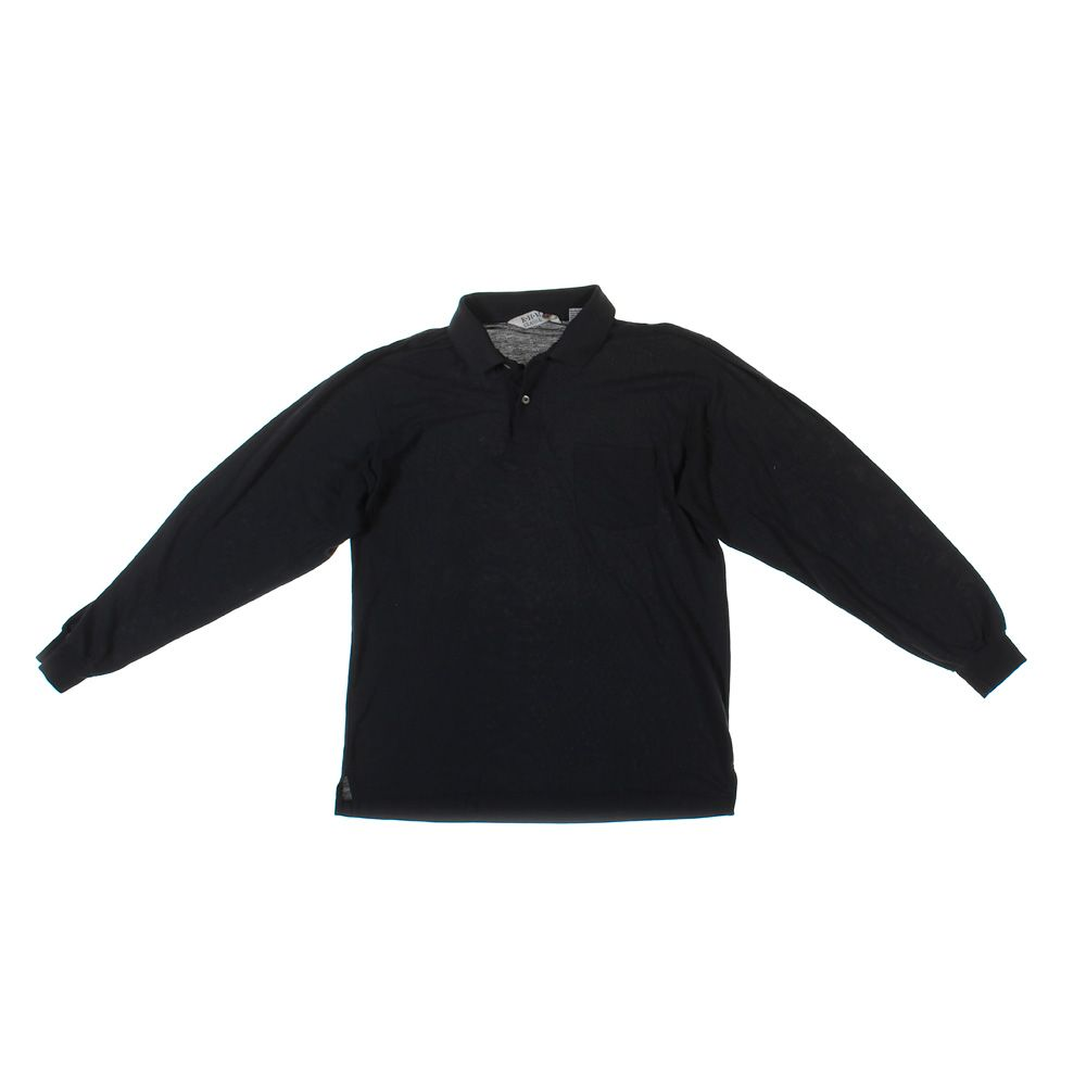08d68970c R.H.M Classic Men's Long Sleeve Polo Shirt, size L, black, cotton ...