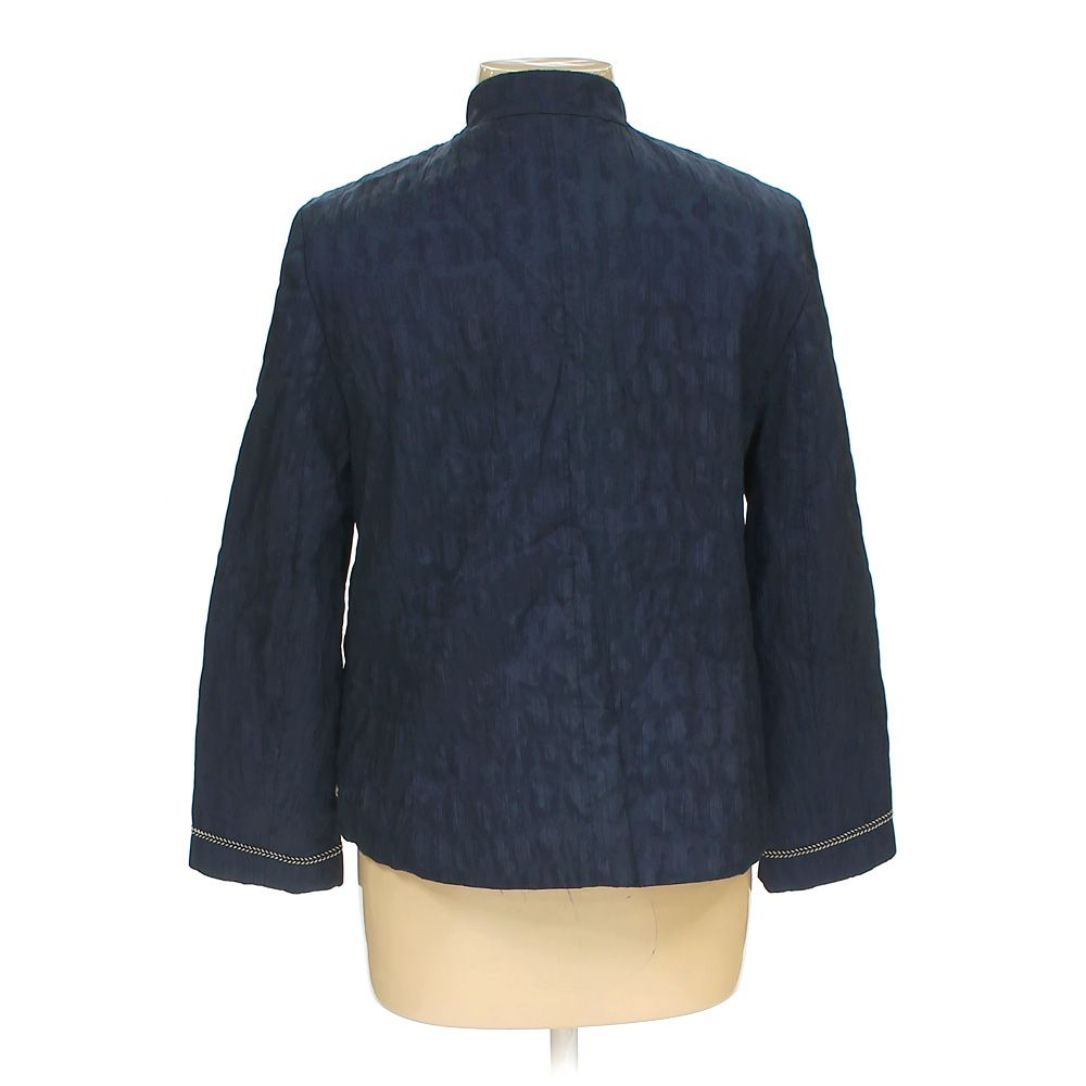 Alfred-Dunner-Women-039-s-Jacket-size-12-blue-navy-cotton-polyester-spandex