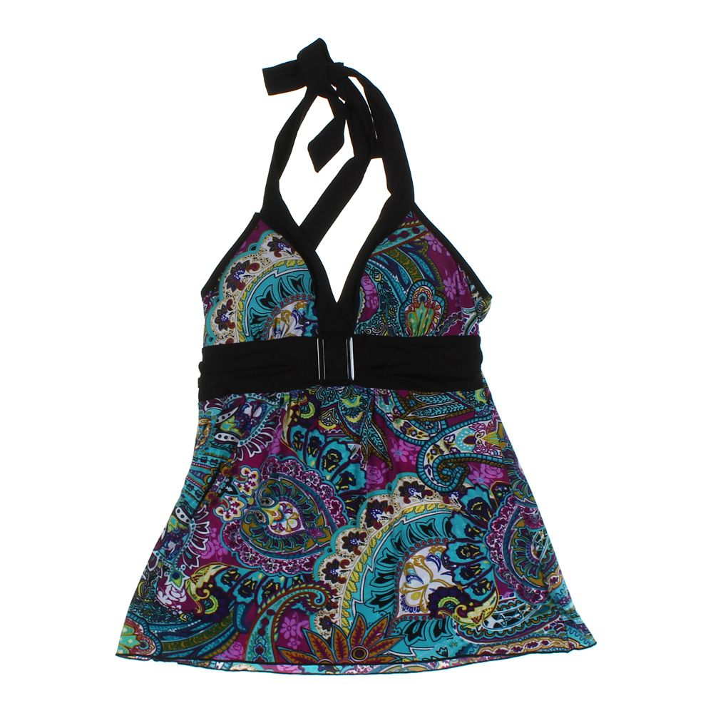 Details about B•WEAR CALIFORNIA Girls Halter Top, size JR 11, purple,  turquoise, polyester