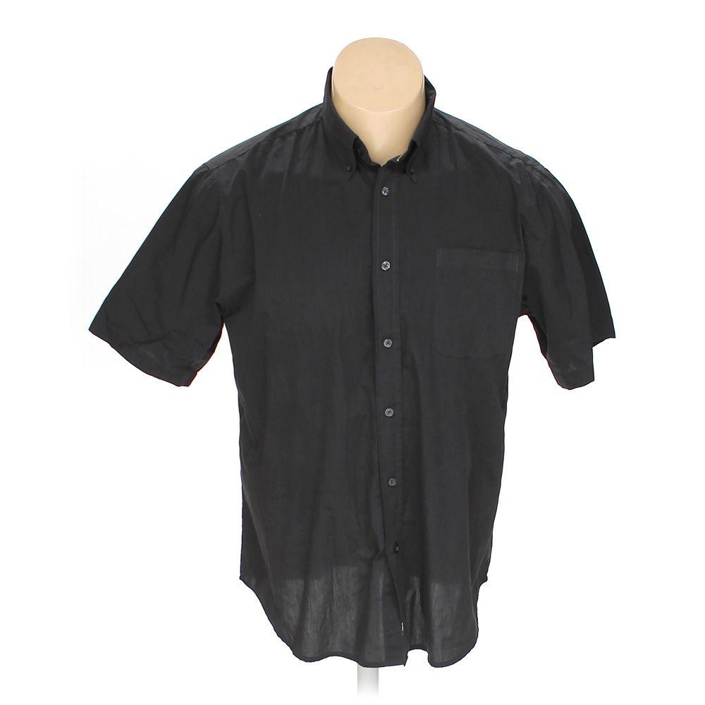 29fb0a2cdb04 Basic Editions Men s Button-down Short Sleeve Shirt