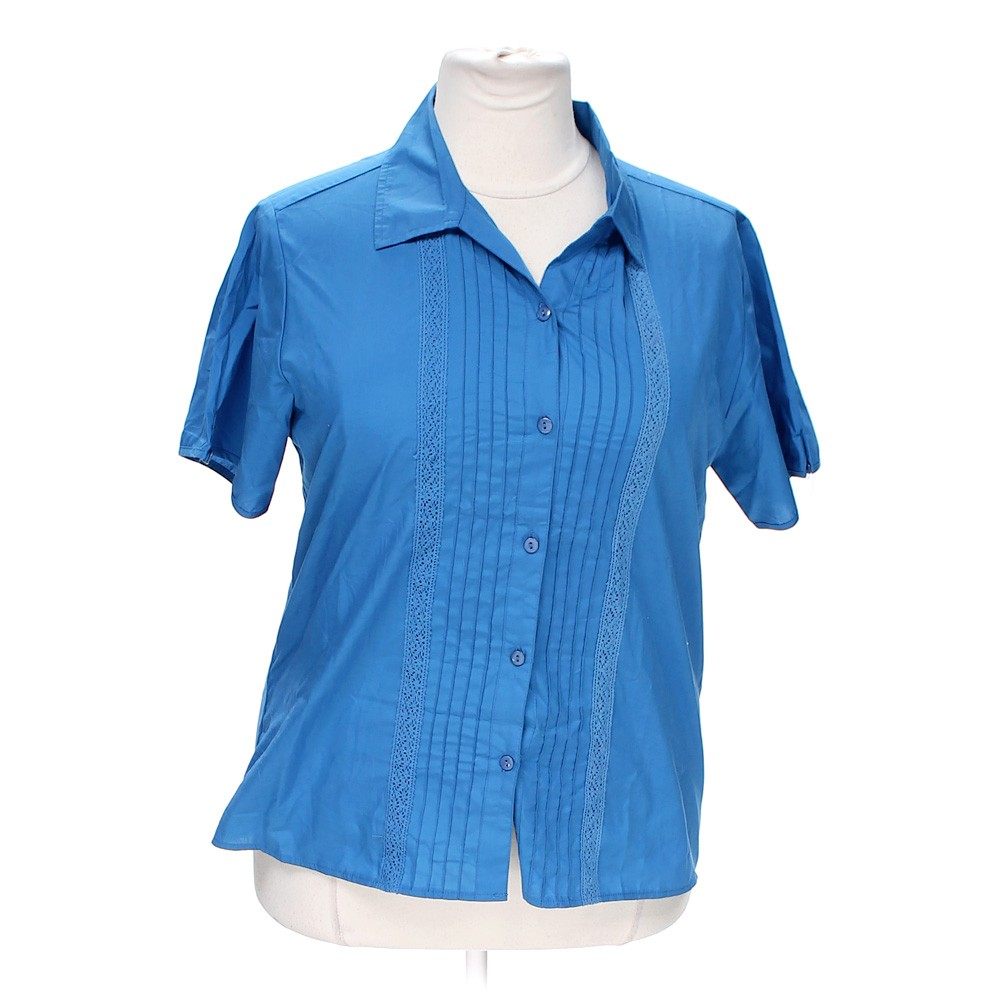 Light Blue American Sweetheart Casual Button Up Shirt In