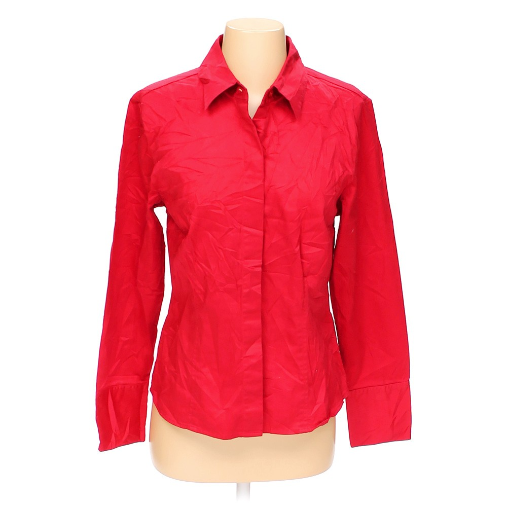 Red Apt 9 Casual Button Up Shirt In Size M At Up To 95