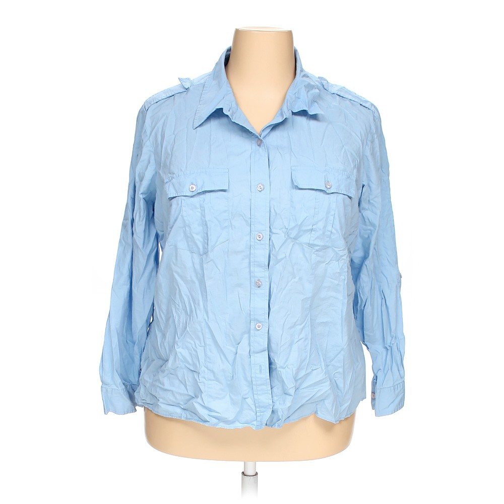 Covington Casual Button Up Shirt In Size 22 At Up To 95