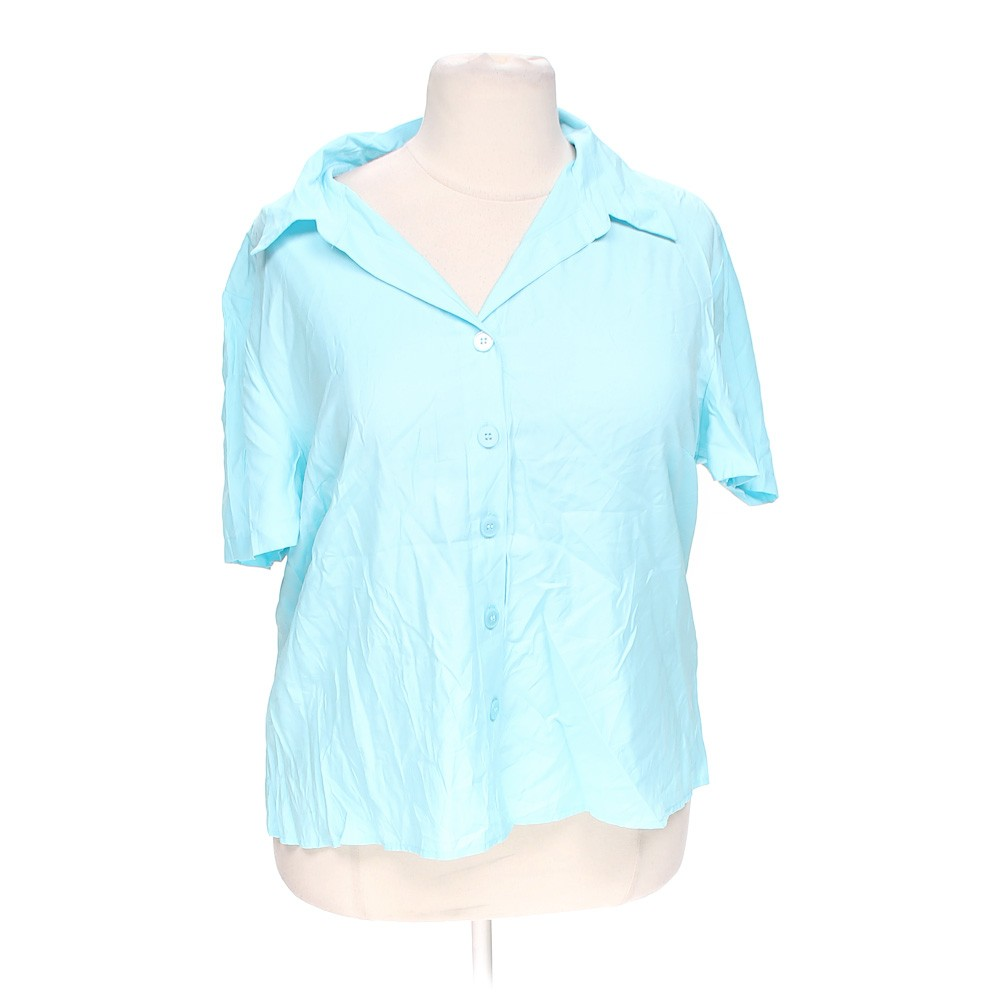 Light Blue Cato Casual Button Up Shirt In Size 22 At Up To