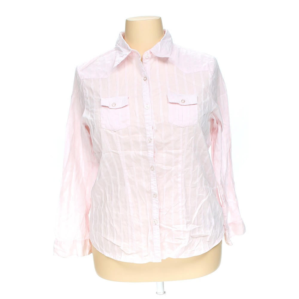 Cotton Express Casual Button Up Shirt In Size 3x At Up To