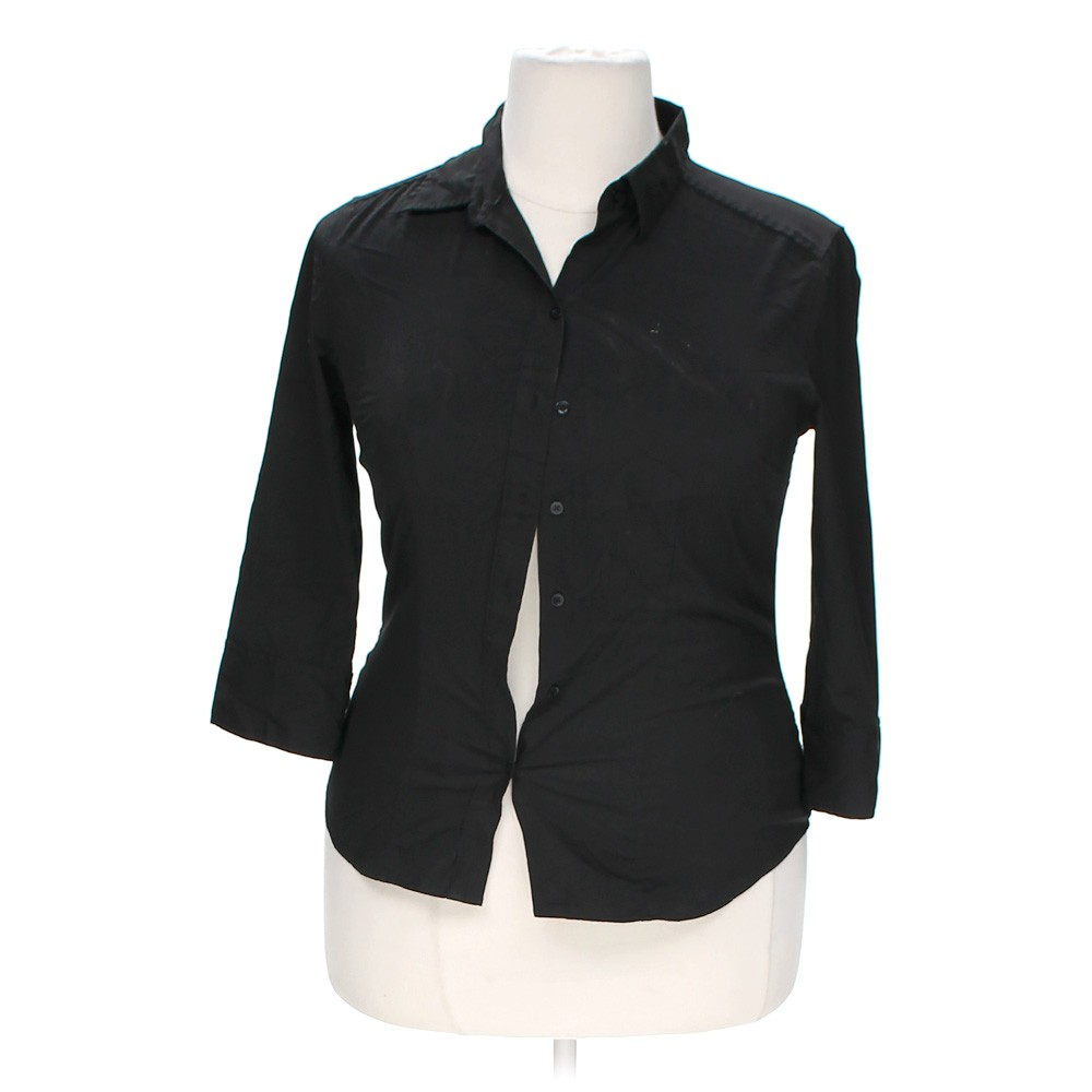 Express polyester button up shirt size 14 for Polyester button up shirt