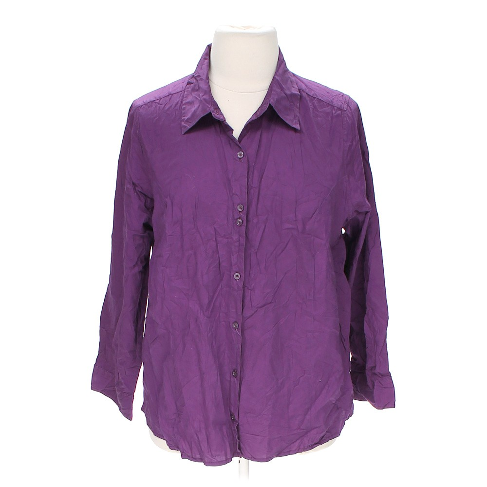 Purple just my size casual button up shirt in size 3x at for 3x shirts on sale