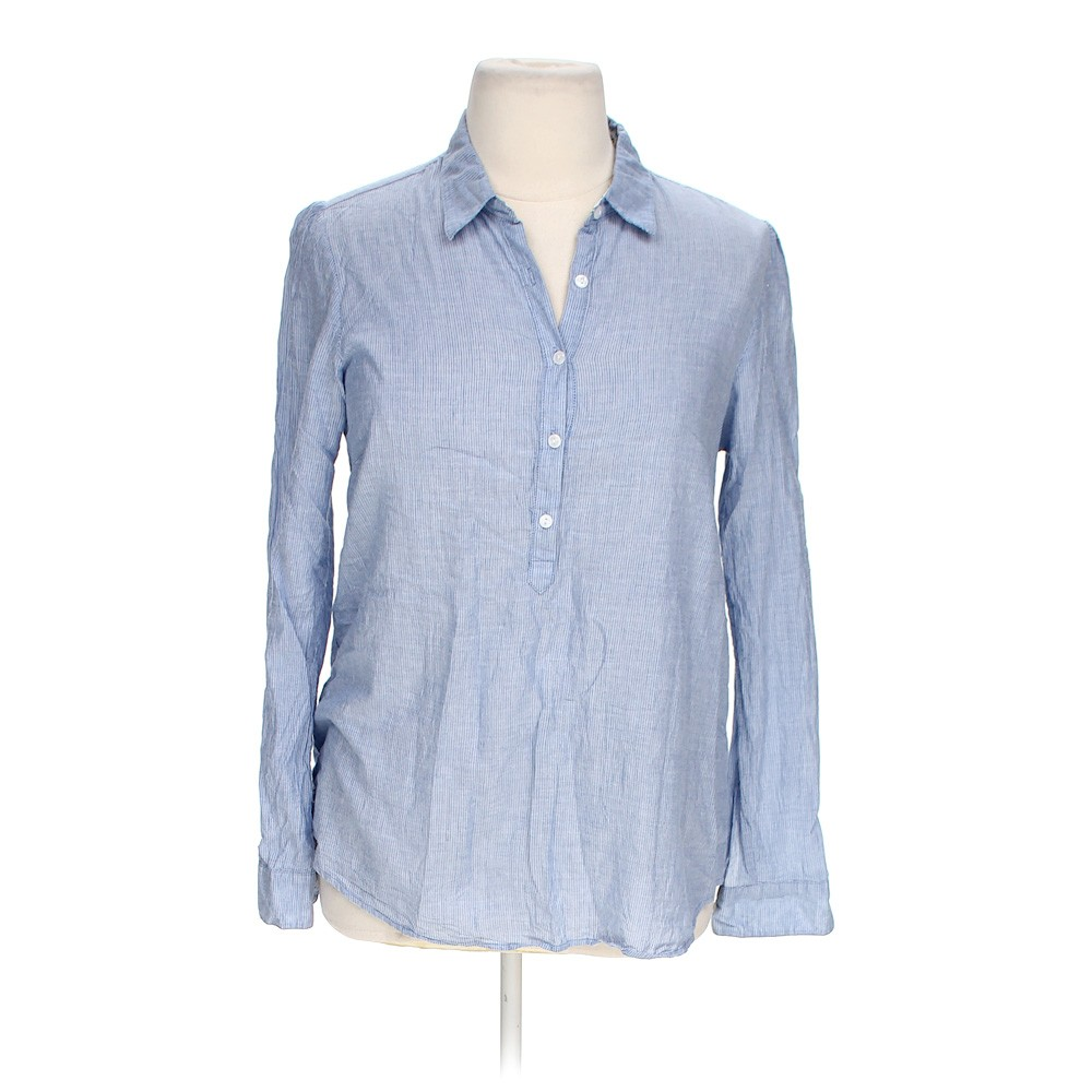 Light blue love notes casual button up shirt in size xl at for Love notes brand shirt