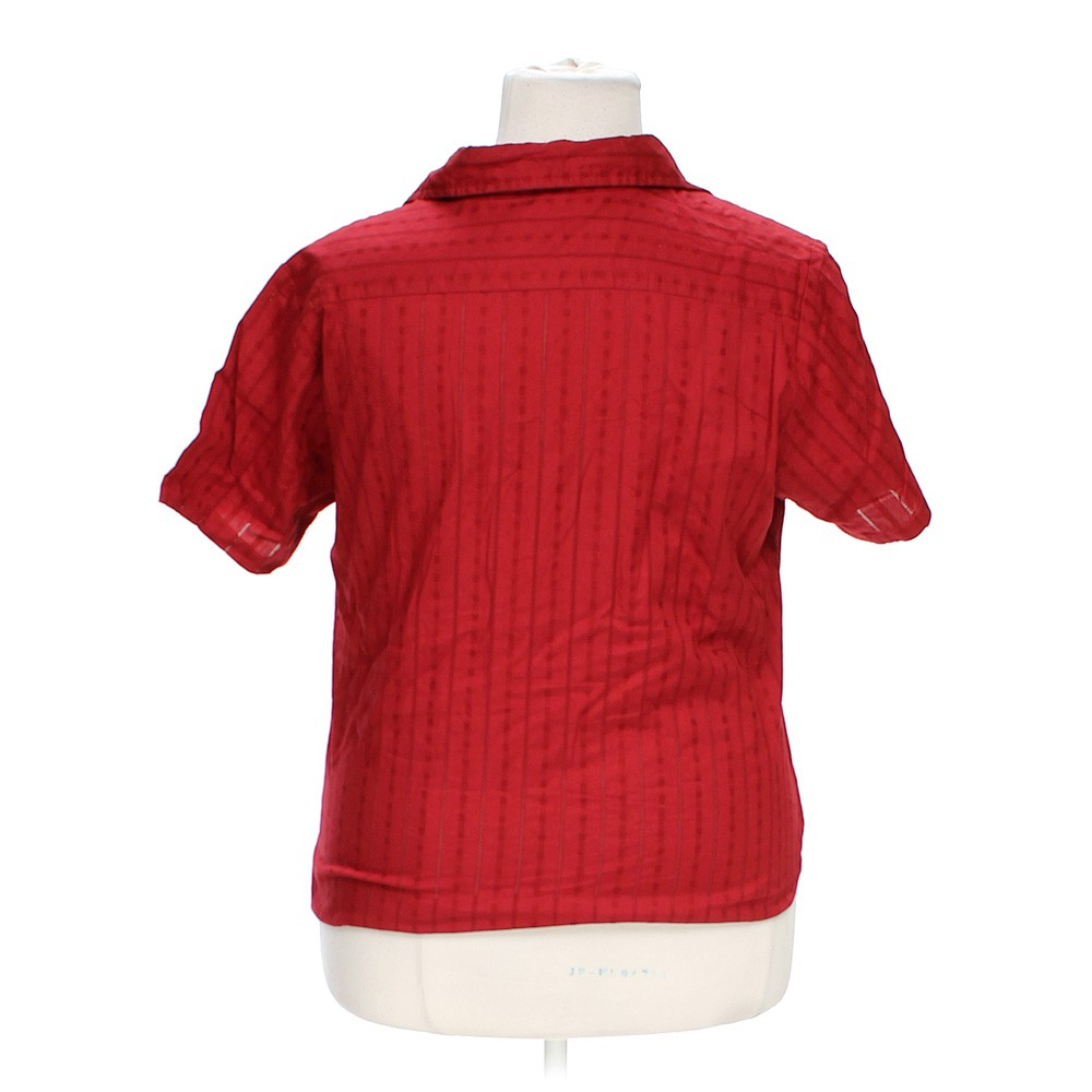 Red Northcrest Casual Button Up Shirt In Size 16 At Up To