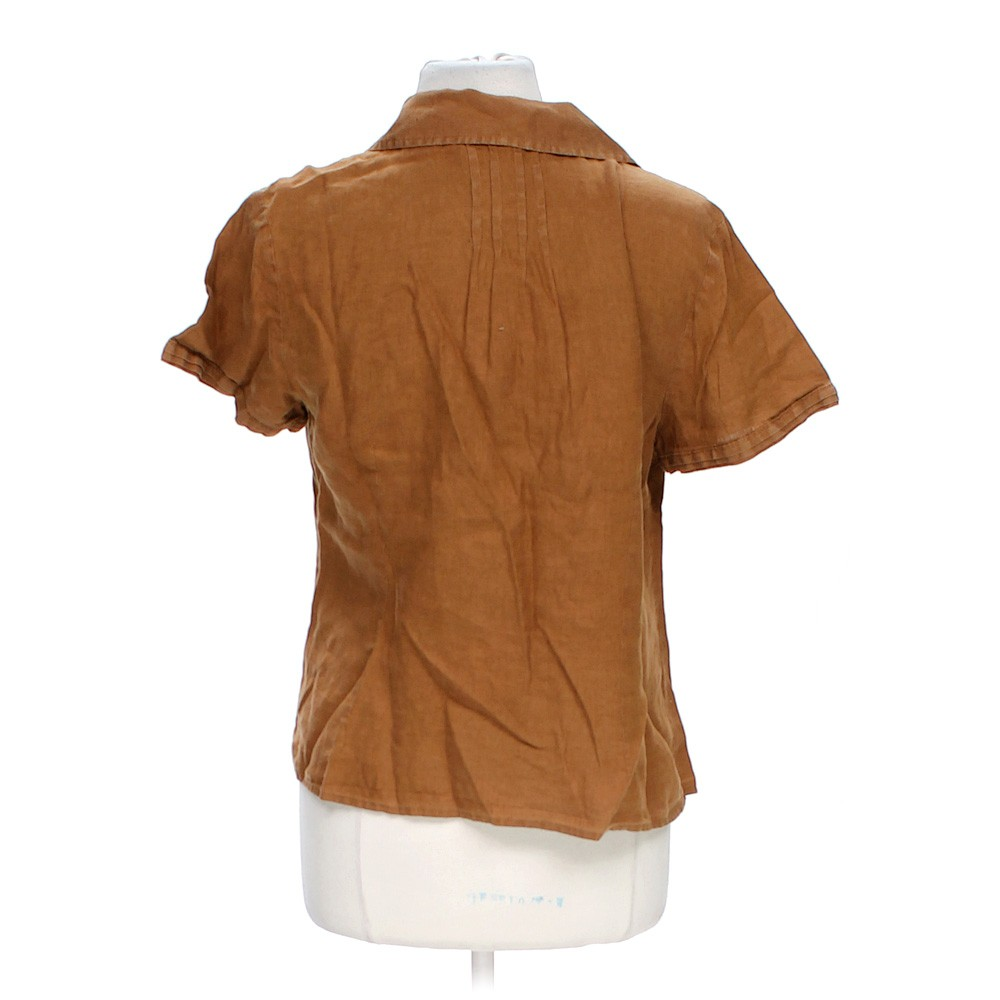 Brown Talbots Casual Button Up Shirt In Size L At Up To 95