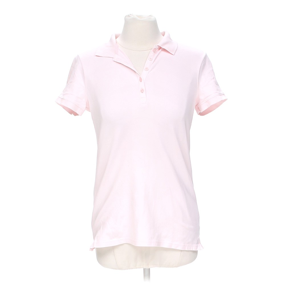Pink croft barrow casual polo shirt in size s at up to for Croft and barrow womens polo shirts