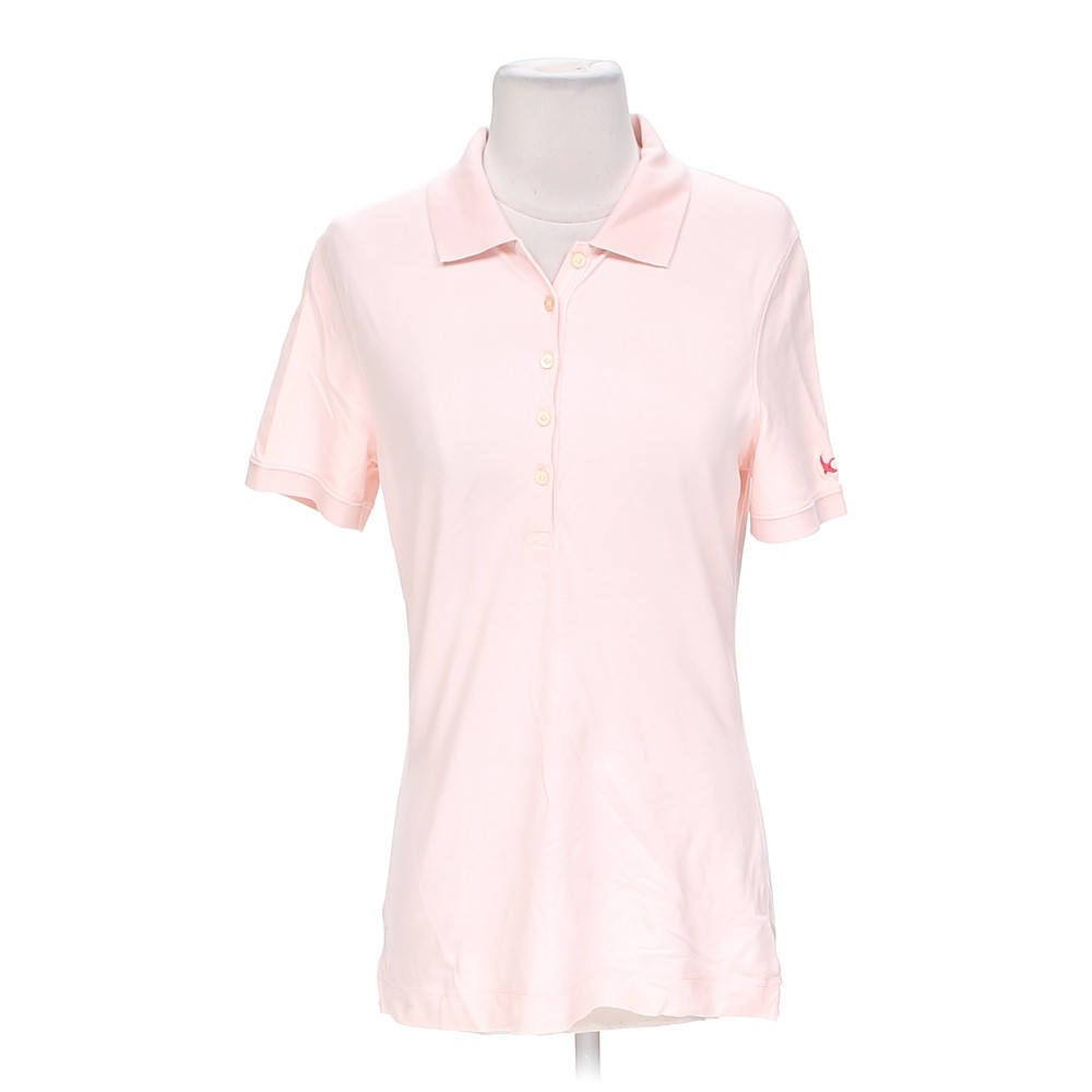 Pink Eddie Bauer Casual Polo Shirt In Size S At Up To 95