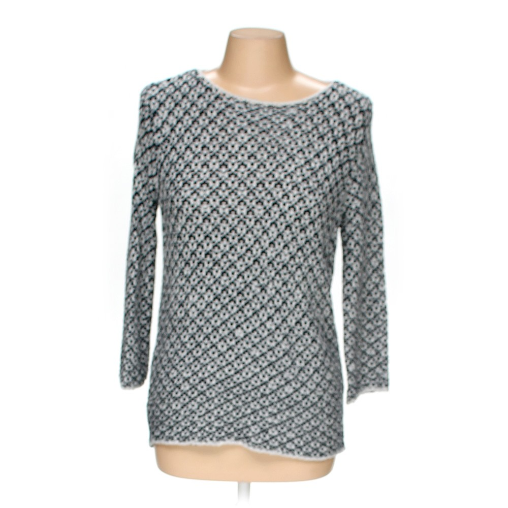 White Lara Knit Casual Sweater in size M at up to 95% Off ...