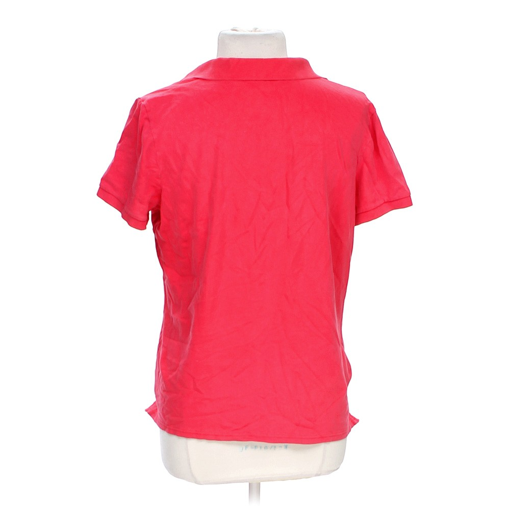 Pink Eddie Bauer Classic Polo Shirt In Size L At Up To 95