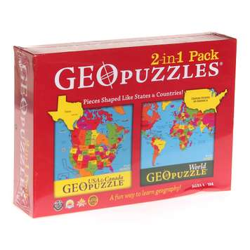 Combination US + World GeoPuzzle Puzzle for Sale on Swap.com