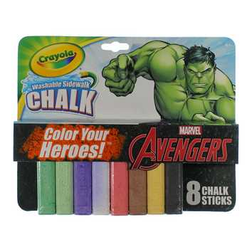 Crayola® Sidewalk Chalk 8ct - Marvel's Avengers The Incredible Hulk for Sale on Swap.com