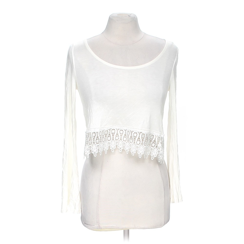 White body central cropped shirt in size m at up to 95 for How to hand wash white shirt
