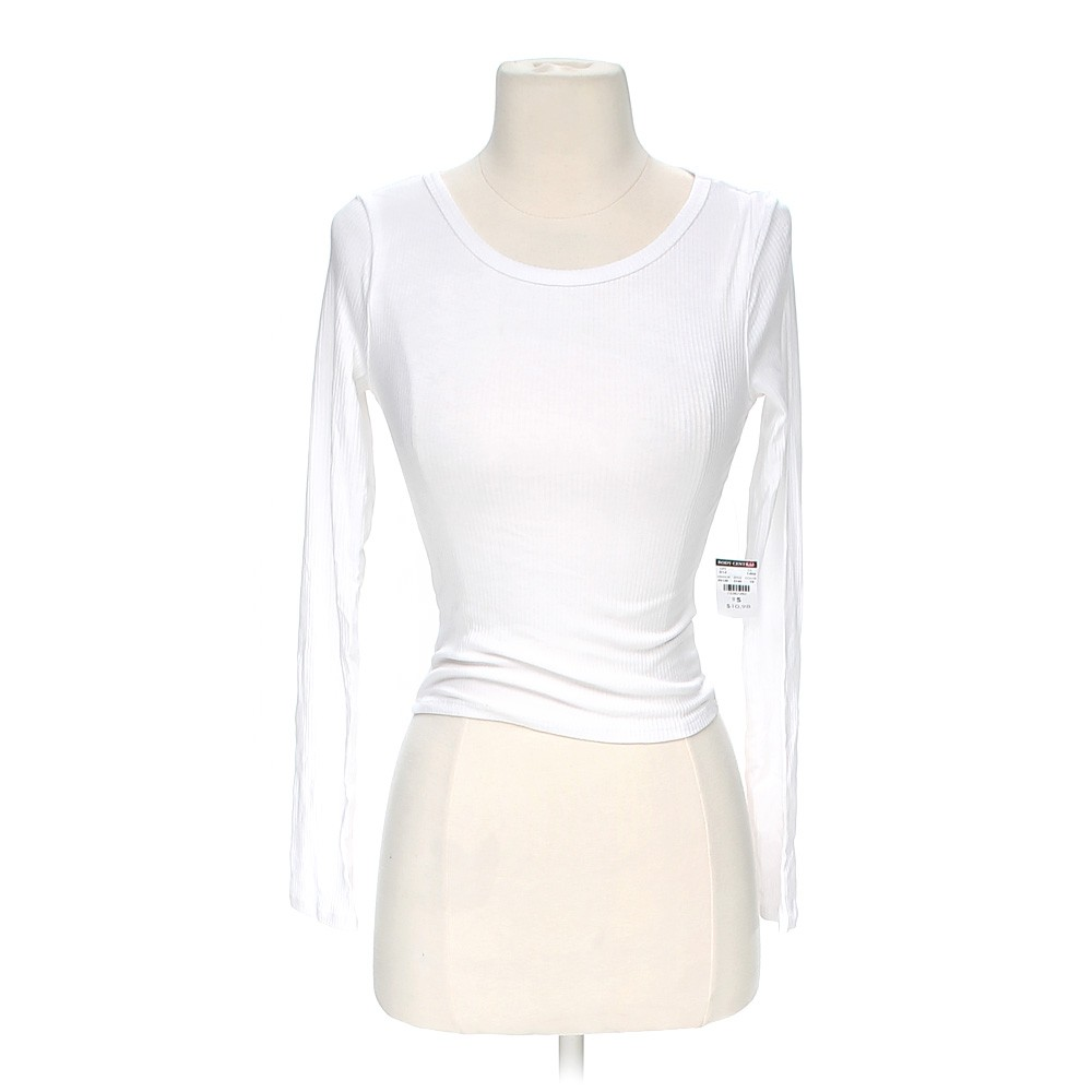 White body central cropped shirt in size s at up to 95 for How to hand wash white shirt