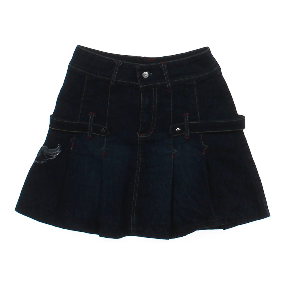 blue navy baby you denim skirt in size 10 at up to 95