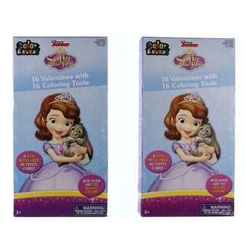 Disney Sofia The First Valentines With Coloring Tools for Sale on Swap.com
