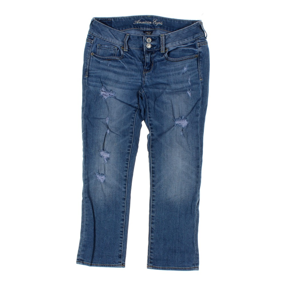 American Eagle Outfitters Distressed Jeans in size 4 at up ...