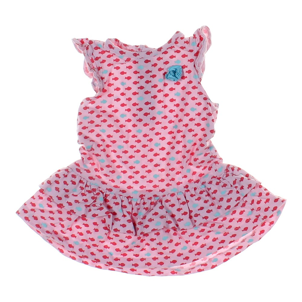 Pink child of mine fish print dress in size 6 mo at up to for Fish print dress