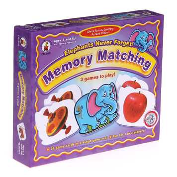 Game: Carson-Dellosa Elephants Never Forget Memory Match Game for Sale on Swap.com