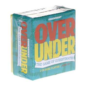 Game: Over/Under Party Game by Gamewright for Sale on Swap.com