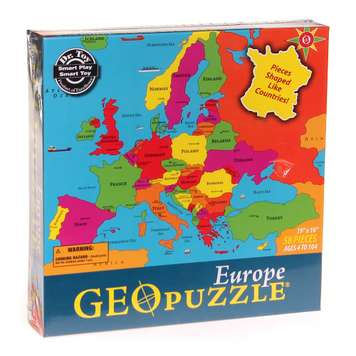 GeoPuzzle Europe - Educational Geography Jigsaw Puzzle for Sale on Swap.com