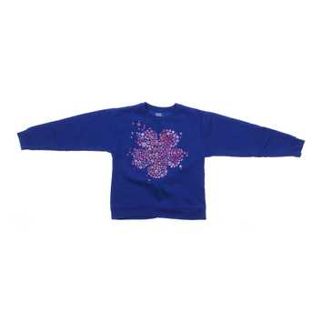 Glittery Flower Print Sweatshirt for Sale on Swap.com